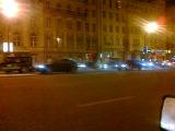 В 0:00 на садовом кольце огромная колона машин за В.В. Путина